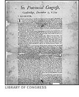 Provincial Congress document 1774